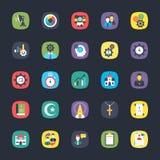 Bundel van App Vlakke Vectoren Stock Afbeelding