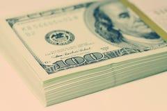 Bundel van dollars Stock Afbeeldingen