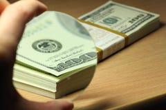 Bundel van dollars Royalty-vrije Stock Foto's