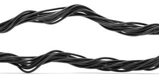 Bundel van elektrische kabels Stock Foto