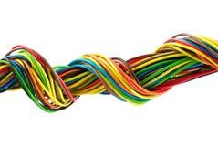Bundel van kleurenkabels Stock Foto's