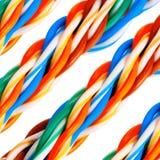 Bundel van kleurrijke elektro geplaatste kabels Royalty-vrije Stock Afbeeldingen