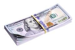 Bundel van nieuwe dollars Stock Afbeeldingen