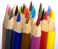 Bundel van Potloodkleurpotloden Stock Fotografie