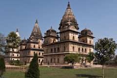 Bundela Cenotaphs in park of I Orchha Stock Image