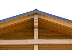 Bundels op dak van huis stock foto's