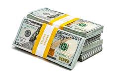 Bundels van 100 Amerikaanse dollars 2013 uitgavenbankbiljetten Royalty-vrije Stock Afbeeldingen