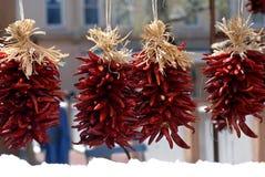 Bundels van de Peper van de Spaanse peper stock foto's