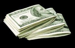 Bundels van dollarrekeningen Stock Fotografie