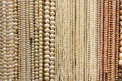 Bundels van Parels en Parels Stock Foto