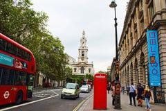 Bundelstraat Centraal Londen Engeland het Verenigd Koninkrijk Royalty-vrije Stock Fotografie