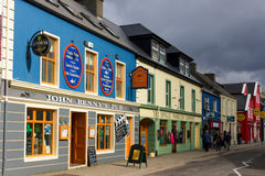 Bundelstraat dingle ierland Stock Afbeelding