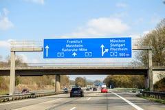 Bundesautobahn lub Federacyjny Motorwa Obrazy Stock