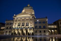 Bundeshauser, Swiss Federal Assembly, Bern Royalty Free Stock Photography