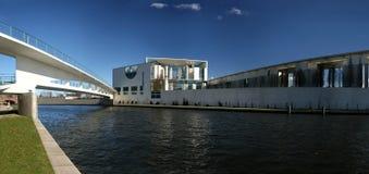 Bundeskanzleramt in Berlin. German Chancellery (Bundeskanzleramt) in Berlin seen from river Spree Royalty Free Stock Image