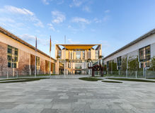The Bundeskanzleramt (German for Federal Chancellery)  in sunris Royalty Free Stock Images