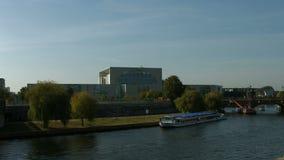 Bundeskanzleramt / Kanzleramt / Chancellery Berlin. Establishing shot of the German Bundeskanzleramt / Kanzleramt / Chancellery, the seat of the German stock video footage