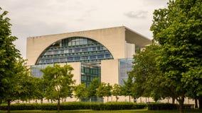 Bundeskanzleramt / Kanzleramt / Chancellery Berlin. South side time lapse view of the German Bundeskanzleramt / Kanzleramt / Chancellery, the seat of the German stock footage