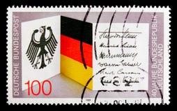 Bundesrepublik 40 år Förbundsrepubliken Tyskland serie, circa 1989 Royaltyfri Fotografi