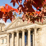 Bundestag in autumn Royalty Free Stock Photography