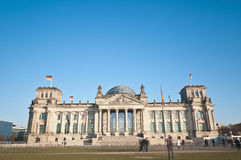 Bundestag in Berlijn, Duitsland Royalty-vrije Stock Fotografie