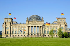 Bundestag in Berlin. Bundestag (Reichstag) in Berlin on a beautiful sunny day