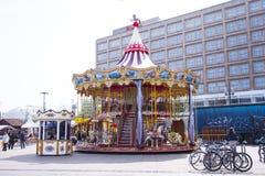 Carousel at Alexanderplatz in Berlin Stock Photography