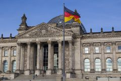 The Bundestag in Berlin. The German Bundestag, a constitutional and legislative building in Berlin, capital of Germany Royalty Free Stock Image