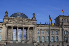 The Bundestag in Berlin. The German Bundestag, a constitutional and legislative building in Berlin, capital of Germany Stock Image