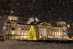 Bundestag at christmas time Royalty Free Stock Photos