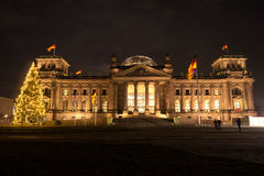 Bundestag with christmas tree Stock Photography