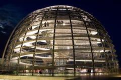 Bundestag copre con una cupola Fotografia Stock Libera da Diritti