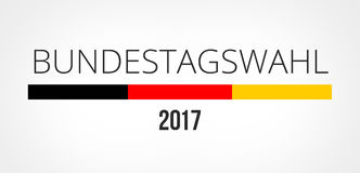 Bundestag election 2017 germany Royalty Free Stock Photography
