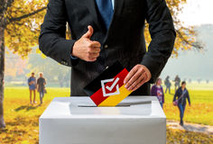 Bundestag election in Germany Stock Photos