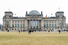 Bundestag german federal parliament building in Berlin Germany Royalty Free Stock Photo