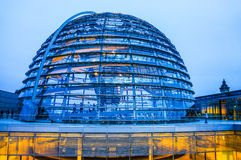 Bundestag. Glass dome of Bundestag in Berlin Royalty Free Stock Photography