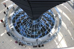 Bundestag. Glass dome of the building Bundestag in Berlin Stock Photography