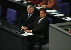 Bundestag ingen förtroendeomröstning 2005 Arkivbild