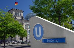 Bundestag : Le parlement allemand, Berlin, Allemagne Image libre de droits