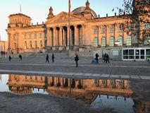 Bundestag mirror stock photo