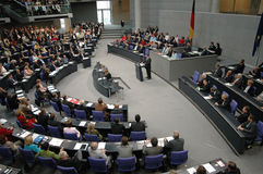 Bundestag nessun voto di fiducia 2005 Fotografie Stock Libere da Diritti