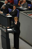 Bundestag No Confidence Vote 2005 Stock Photos