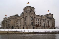 Bundestag on river Stock Photography