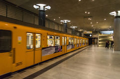 Bundestag Station with train Stock Photography