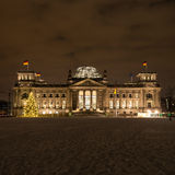 Bundestag in winter by night Stock Images