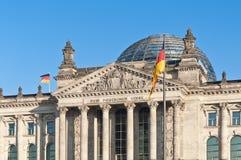 Bundestagen på Berlin, Tyskland Arkivfoton