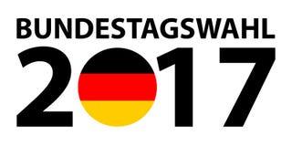 Bundestagswahl 2017 - conceito alemão da eleição da política Eleição alemão, Bundestagswahl ilustração stock