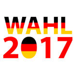 Bundestagswahl 2017 - concetto tedesco di elezione di politica Elezione tedesca, Bundestagswahl Immagine Stock