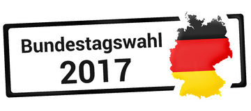 Bundestagswahl 2017. Elements of this image furnished by NASA. Stock Photography