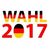 Bundestagswahl 2017 - het Duitse Concept van de Politiekverkiezing Duitse verkiezing, Bundestagswahl Stock Afbeelding
